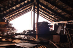 Wooden barn storage room Stock Image