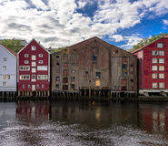 Wooden Barns on Seaside Royalty Free Stock Image