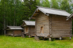 Wooden barns Stock Images
