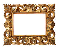 Wooden Baroque Style Frame Royalty Free Stock Images