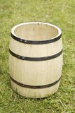 Wooden barrel. Photo of old wooden barrel in the garden Stock Photos