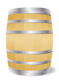 Wooden barrel. On white background Royalty Free Stock Photos