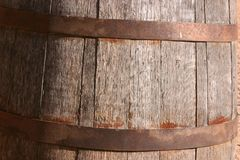 Wooden Barrel. Antique wooden barrel on display in the street in the Wild West town of Tombstone Arizona Royalty Free Stock Image