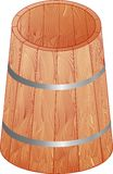 The wooden barrel Stock Image
