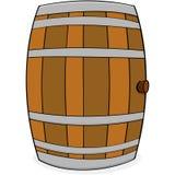 Wooden barrel royalty free illustration