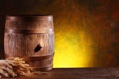 Wooden barrel. Stock Photos