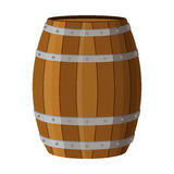Wooden barrel with alcohol drinks rum, brandy, tequila, liquor, Royalty Free Stock Photography