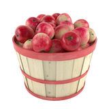 Wooden barrel with apples Stock Photography