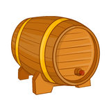 Wooden barrel for beer icon, cartoon style Stock Image