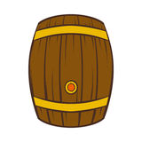 Wooden barrel of beer icon, cartoon style Royalty Free Stock Photography