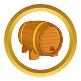 Wooden barrel for beer vector icon Royalty Free Stock Image
