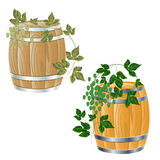 Wooden barrel of Stock Photography