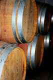 Wooden barrel cask for wine Stock Photos