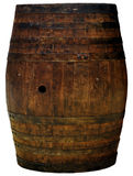A wooden barrel cutout isolated Royalty Free Stock Image