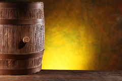 Wooden barrel. Royalty Free Stock Photography