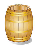 Wooden barrel gold Stock Photo