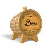 Wooden barrel. Illustration. Stock Images