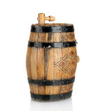 Wooden barrel with iron rings Stock Image