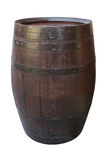 Wooden barrel with iron rings. Stock Photography