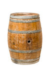 Wooden barrel with iron rings. Stock Photos