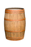 Wooden barrel with iron rings. Royalty Free Stock Photos
