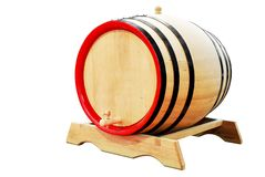 Wooden barrel isolated Royalty Free Stock Photography