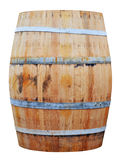 Wooden barrel isolated on white background Royalty Free Stock Photos