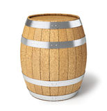 Wooden barrel isolated on white Royalty Free Stock Photos