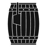Wooden barrel with ladle icon simple Royalty Free Stock Photos