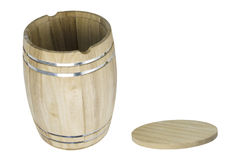 Wooden Barrel with Lid Royalty Free Stock Image
