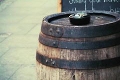 Wooden barrel Royalty Free Stock Photo