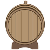 Wooden barrel plugged plug Stock Photography