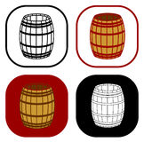 Wooden barrel set Stock Photo