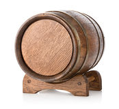 Wooden barrel on stand Royalty Free Stock Images