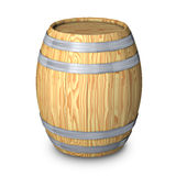 Wooden barrel with steel ring vector illustration