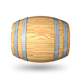 Wooden barrel with steel ring Stock Photo