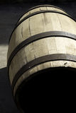 Wooden barrel for stocking wine. Part of a 50 photo collection of wine, vintage and manufacture of barrels Royalty Free Stock Images