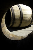 Wooden barrel for stocking wine. Part of a 50 photo collection of wine, vintage and manufacture of barrels Royalty Free Stock Photos