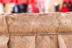 Wooden barrel, straw , snow Royalty Free Stock Photography