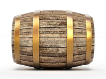 Wooden barrel with tap Stock Image