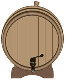 Wooden barrel with a tap Stock Images