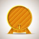 Wooden Barrel with Tap Royalty Free Stock Photo