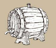 Wooden barrel Stock Photography
