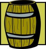 Wooden barrel vector illustration. Vector illustration of a wooden barrel Stock Photography
