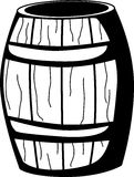Wooden barrel vector illustration. Vector illustration of a wooden barrel Stock Image
