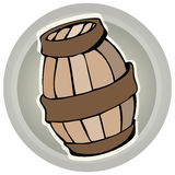 Wooden Barrel Vector Illustration. Royalty Free Stock Photo