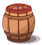 Wooden Barrel Vector Illustration. Stock Images
