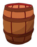 Wooden Barrel, Vector Illustration. Royalty Free Stock Photography