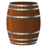Wooden Barrel Vector Royalty Free Stock Photography