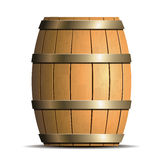 Wooden barrel vector Stock Photography